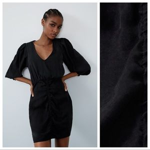 NWT. Zara Black Mini Dress. Size XS.